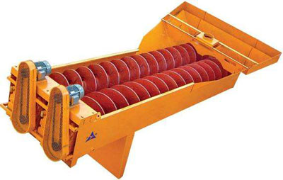 Double spiral sand washer